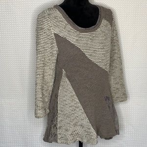 Angel of the North Multi-Texture Sweater Size L